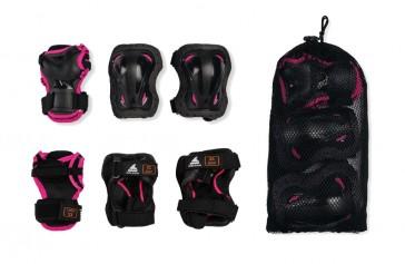 Rollerblade Children's protective gear set black / pink