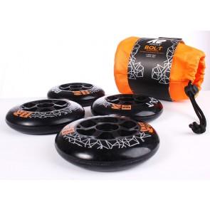 K2 Wheels 90mm black 4-pack