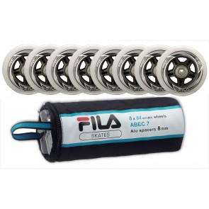 Fila 84mm replacement wheels with Abec 7 and 8mm Alu Spacer