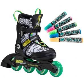 K2 Raider Splash paintable kids inline skates