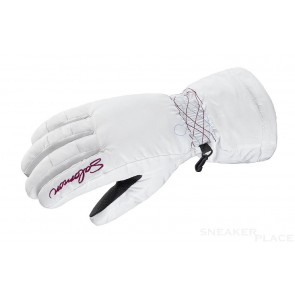 Salomon Snowboard Gloves white/purple iris women
