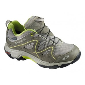 Salomon Trax Kid Wp kids shoes grey/green