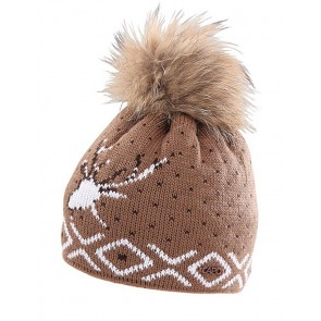 Capo Beanie-Strickmütze Tradition Brown