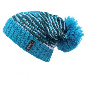 Capo Stricksloppy beanie with pompom azure