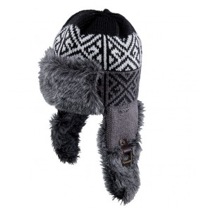 Capo Beanie Fur cap with knitting Inka