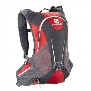 Salomon Agile 12 Set backpack red/grey