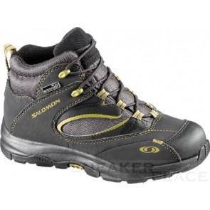 Salomon Elios Mid WP Kids Shoes asphalt/moss