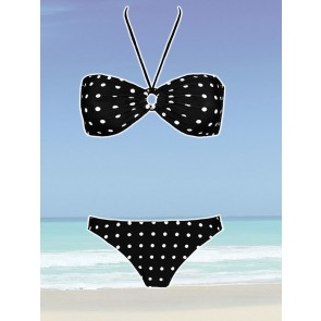 Sun Project Bandeau Bikini black point