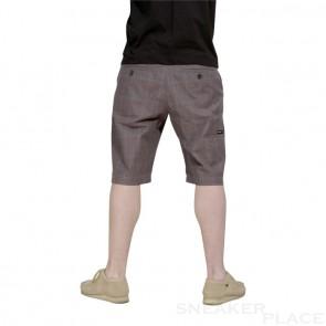 Reell Chino Short Chequered Brown Purple
