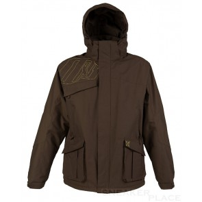 Oxbow men in dark brown winter coat Rilhan