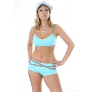 Jenna De Rosnay Turquoise Bikini