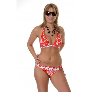 Carcharel Bikini Red flower garden