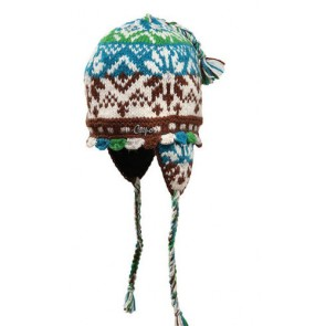 Capo Beanie Handmade stained with ear flaps One Size