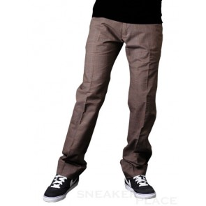 Mens Pant Reell Chino Oxford brown purple