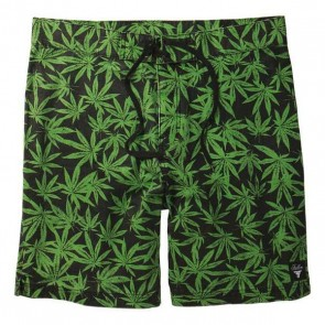 Fallen Leaf Green Boardshort swimsuit