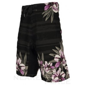 Ripzone Water trunks Flowers black