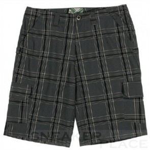 Ripzone Plaid shorts carbon/black/white