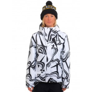 Oxbow Damensnowboardjacke printed jacket Feelair Reina white