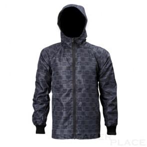 Checkered wind and rain jacket Reell gray