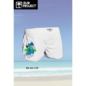 Sun Project Ladies swimsuit white with blue flower