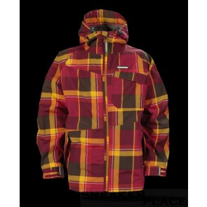 Horsefeathers Linear Kids Jacket Ruby Check