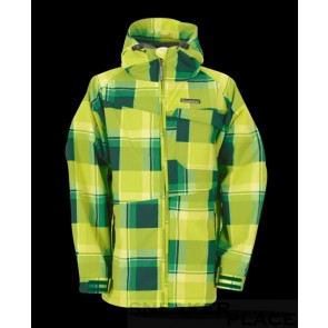 Horsefeathers Linear Kids Jacket Green Check