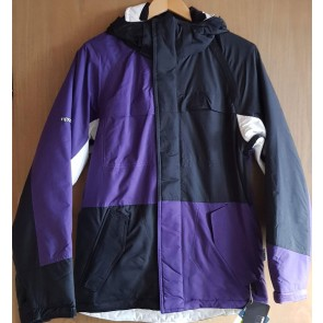 Ripzone Men Snowboard Jacket Addiction Black/White/Purple