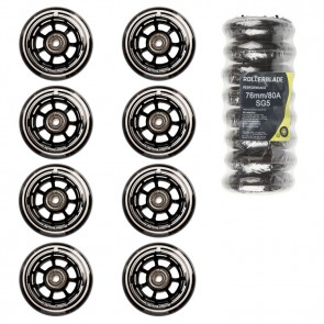 Rollerblade 76 mm wheels with SG-5 bearings and 6mm Spacer