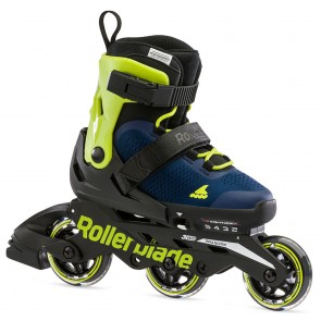 Rollerblade Microblade 3WD kids skates Blue Royal / Lime