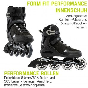 Rollerblade Sirio 84 men black / white