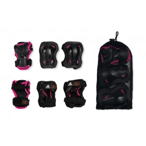 Rollerblade Children's protective gear set black / pink